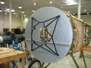 rebuilt mount on Sopwith Stutter at aviation career school