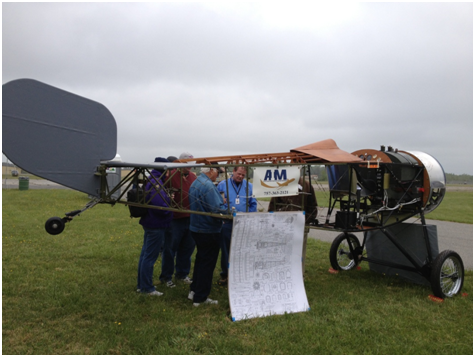 Aviation career school students show off their Nieuport at the Festival of Light