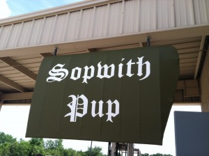 Another view of the Sopwith Pup sign